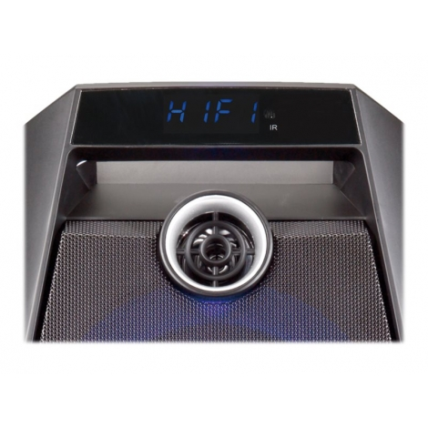 Altavoz Bluetooth Conceptronic Disco 20W USB SD + LUZ LED + Microfono + Karaoke Black