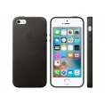 Funda iPhone se Apple Leather Case Black