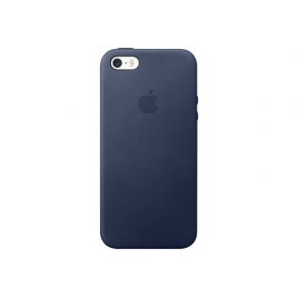 Funda iPhone se Apple Leather Case Midnight Blue