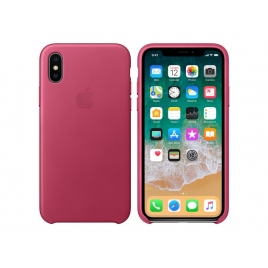 Funda iPhone X Apple Leather Case Pink Fuchsia