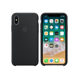 Funda iPhone X Apple Silicone Black