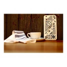 Funda Movil Back Cover Silver HT Ceramic Porcelain para Samsung Galaxy S7
