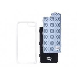 Funda Movil Back Cover Silver HT Dress me Street 2 EN 1 para Samsung Galaxy S7 Edge