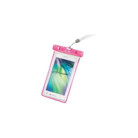 Funda Movil Celly Waterproof BAG Pink/Transparente 5.5""