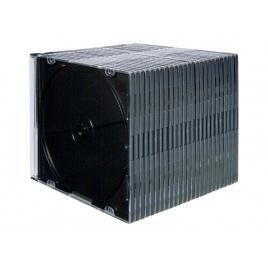 Archivador Caja CD Fellowes 1 Unidad Slim Black Pack 25U