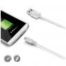 Cable Celly USB 2.0 a Macho / Micro USB B Macho 1M White