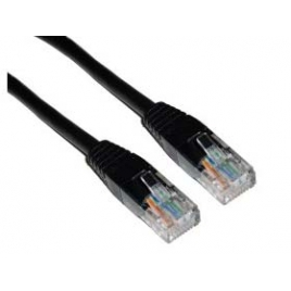 Cable Kablex red RJ45 CAT 5 0.5M Black