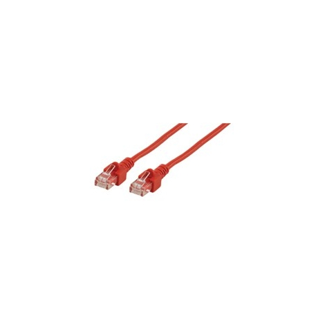 Cable Kablex red RJ45 CAT 5 1M red