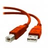 Cable Kablex USB 2.0 A-B 1.8M red
