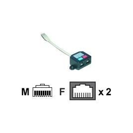 Cable MCL Samar red 1RJ45 FCE Macho / 2RJ45 Hembra