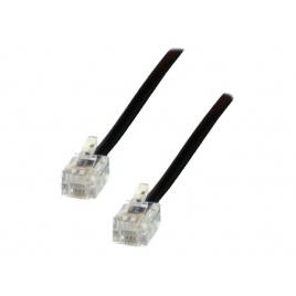 Cable MCL Telefonico RJ11 5M Black