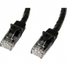 Cable Startech red RJ45 CAT 6 2M Black