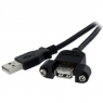 Cable Startech USB 2.0 a Macho / a Hembra 30CM Panel Mount