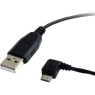 Cable Startech USB 2.0 a Macho / Micro USB B Macho Acodado Izquierdo 0.9M