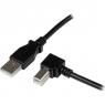Cable Startech USB 2.0 A-B Acodado Derecho 1M