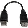 Cable Startech USB 2.0 Extension Cable USB AM AH 15CM