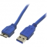Cable Startech USB 3.0 a Macho / Micro USB B Macho 0.3M Blue