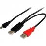 Cable Startech USB Mini B Macho / 2X USB 2.0 a Macho 1.8M