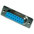 Conector Kablex DB15 Hembra + Carcasa Plastico