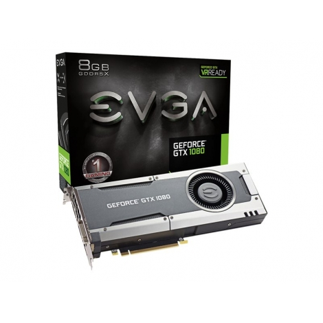 Tarjeta Grafica PCIE Nvidia GF GTX 1080 8GB DDR5 DVI-D 3XDP HDMI Evga