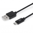 Cable Maillon USB 2.0 a Macho / Micro USB B Macho 1M Black