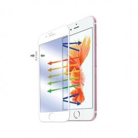 Protector de Pantalla Celly Cristal Templado Marco White para iPhone 6/6S