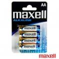 Pila Alcalina Maxell Tipo AA LR6 Pack 4