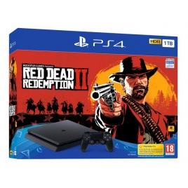 Consola Sony PS4 Slim 1TB + red Dead Redemption II Black