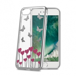 Funda Movil Back Cover Celly Laser Transparente Butfly para iPhone 7/8