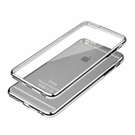 Funda Movil Back Cover HT Glossy Silver para iPhone 6/6S