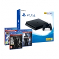 Consola Sony PS4 Slim 500GB + Pack Hits (Ratchet / Uncharted 4 / Last OF US)