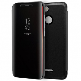 Funda Movil HT Flip Cover Clear View Black para Xiaomi Redmi 6 / 6A