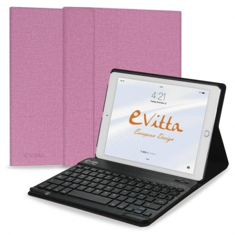 Funda Tablet E-VITTA Keytab + Teclado Bluetooth Pink iPad 2017 / 2018