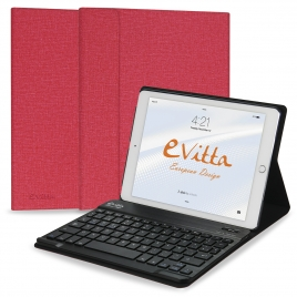 Funda Tablet E-VITTA Keytab + Teclado Bluetooth red iPad 2017 / 2018