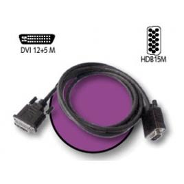 Cable Kablex DVI 12+5 Macho / Svga 15 Macho 2M