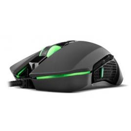 Mouse BG Gaming Hunter 3200DPI Ambidextro 8 Botones USB Black/Green
