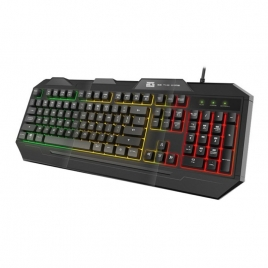 Teclado BG Gaming FOX Iluminado 3 Colores Black
