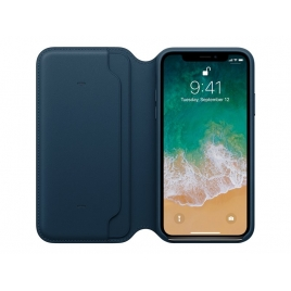Funda iPhone X Apple Leather Folio Cosmos Blue