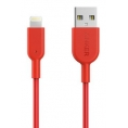 Cable Anker Conector Lightning a USB 1M red