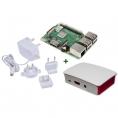 KIT Raspberry PI 3 B+ + Fuente + Caja White