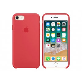 Funda iPhone 8 / 7 Apple Silicone Case Raspberry red
