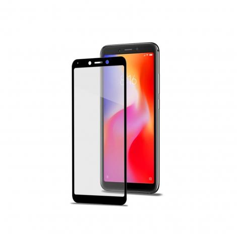Protector de Pantalla Celly Cristal Templado 3D Black para Xiaomi Redmi 6/6A