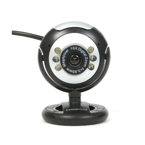 Webcam Omega C12SB USB Black