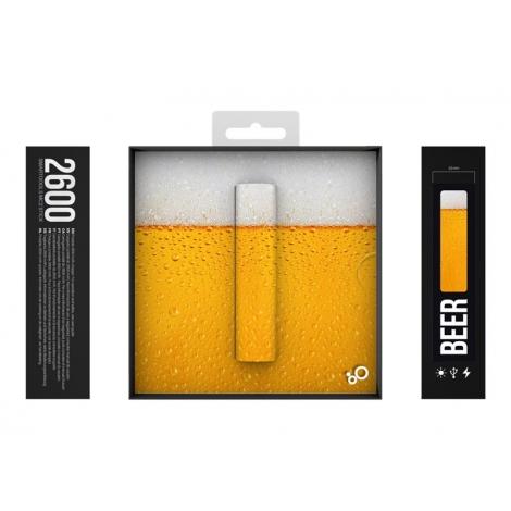 Bateria Externa Universal Smartoools 2.600MAH USB Beer