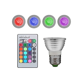 Bombilla LED Unotec E27 3W RGB