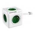 Regleta Powercube Extended 5 Tomas White/Green 1.5M