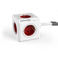 Regleta Powercube Extended 5 Tomas White/Red 1.5M