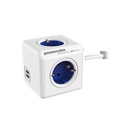 Regleta Powercube Extended USB 4 Tomas White/Blue 1.5M