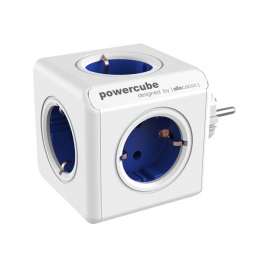 Regleta Powercube Original 5 Tomas White/Blue
