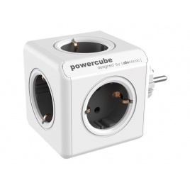 Regleta Powercube Original 5 Tomas White/Grey